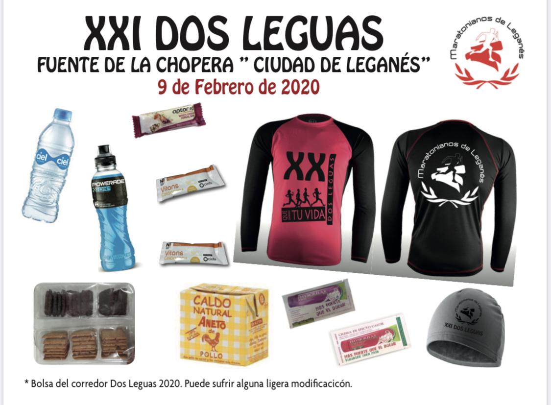 BOLSA DEL CORREDOR DE LA XXI EDICCION 2 LEGUAS FUENTE DE LA CHOPERA
